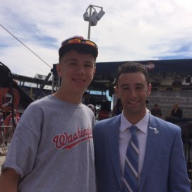 Dan Kolko and I on the day Jordan Zimmermann threw a no-hitter